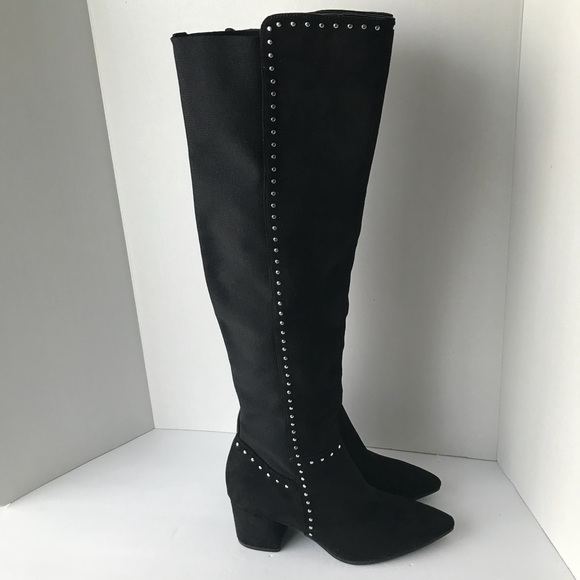 801213356d6 NEW Seven Dials Tall Boots 8 black studded boots